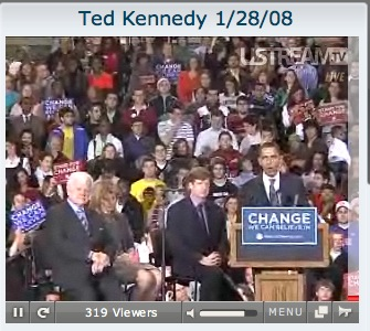 Ted Kennedy Endorsing Obama
