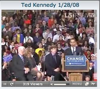 Ted Kennedy Endorsing Obama