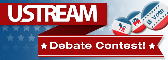 Ustream Debate Contest Oct. 3