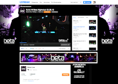 Beta Nightclub Official Ustream Channel