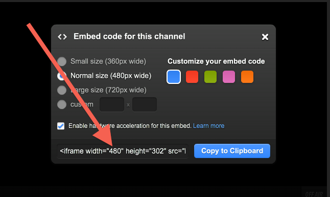 How to embed a stream or video on your site