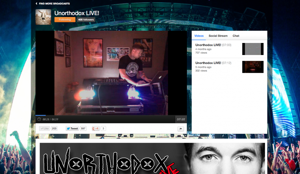 Great Example of Offline Content for Ustream Channel