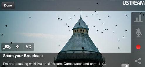Ustream App for Smartphones