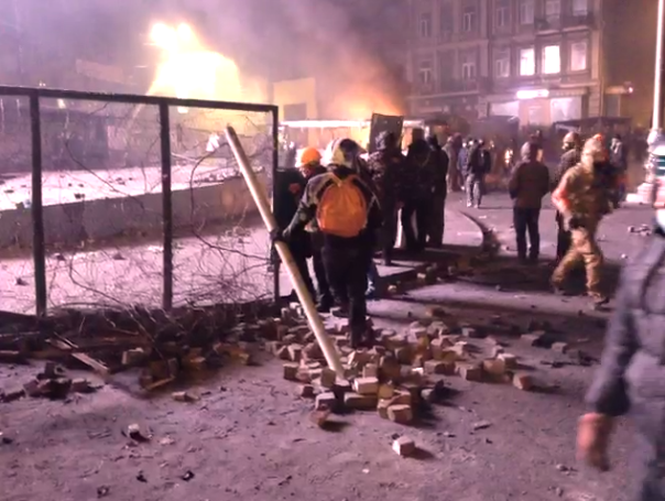 Chaos in Kiev Caught Live on Ustream