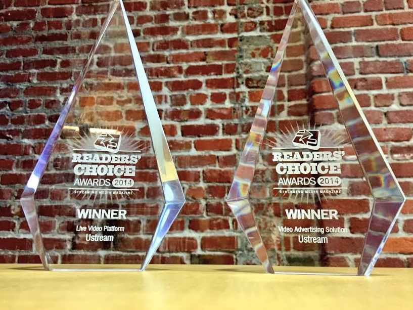 Ustream Snags Two 2014 Streaming Media Readers' Choice Awards