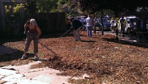 "Ustreamer Linda Williams and her husband took a hands-on ""Mow No Mo'"" workshop on Saturday to learn how to convert water-guzzling lawns into beautiful, drought-tolerant native gardens through sheet-mulching."