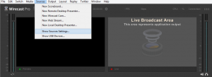 Show Source Settings to Deinterlace in Wirecast