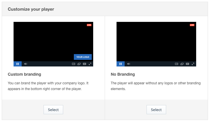 White Label Video Platform: Player Settings