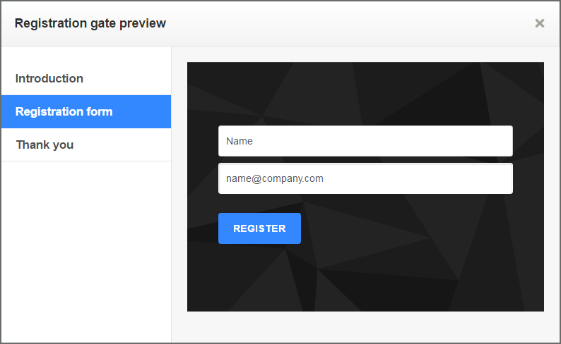 Registration Gate for Viewership Data