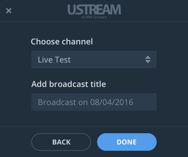 Ustream Broadcaster Desktop App for Mac