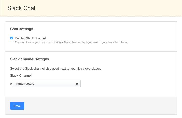 Slack Chat Integration Channel Selection