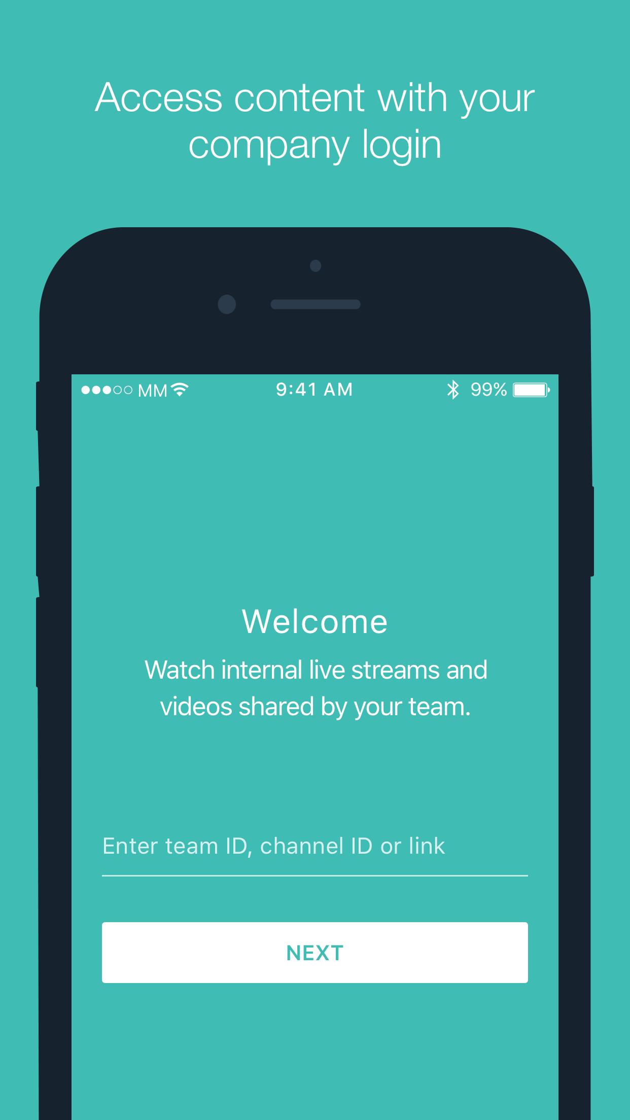 Secure Video App login