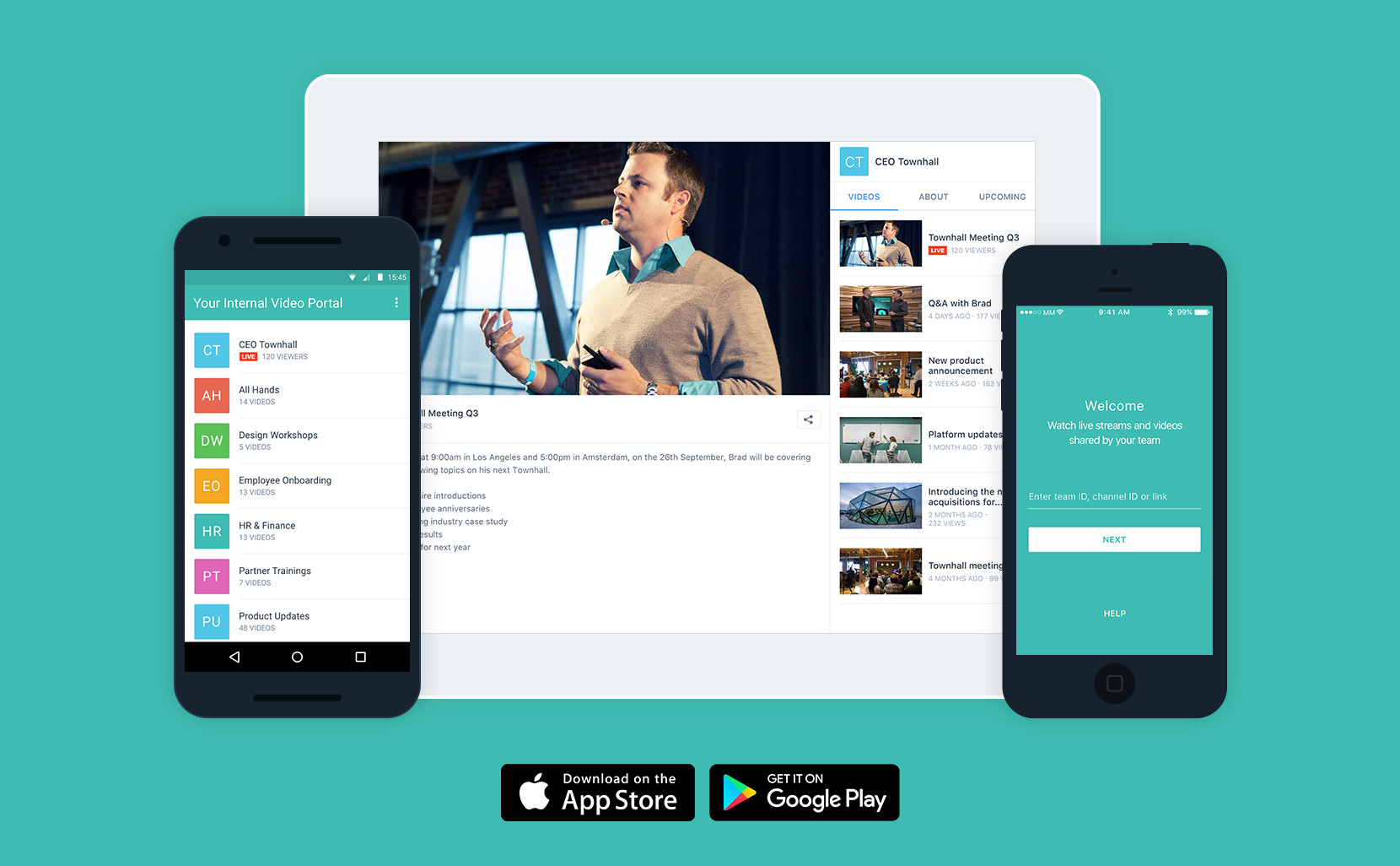 Secure Video App for Enterprise Streaming & Comms