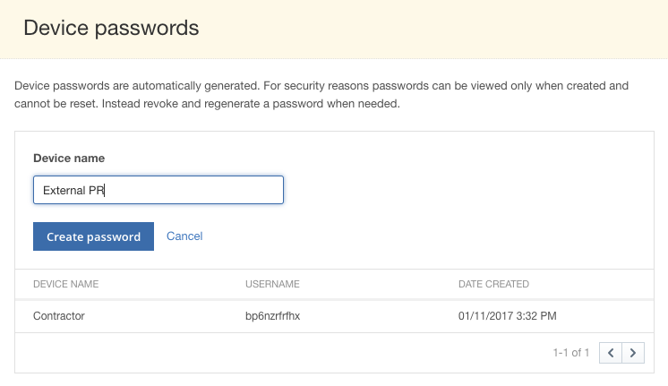 Creating and Managing Temporary Passwords