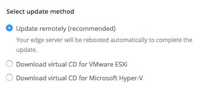 Remote Configuration of ECDN Server Settings: method
