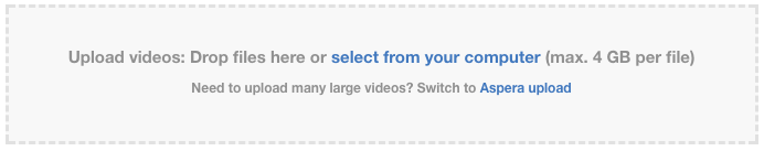 Traditional Browser Uploader for Videos