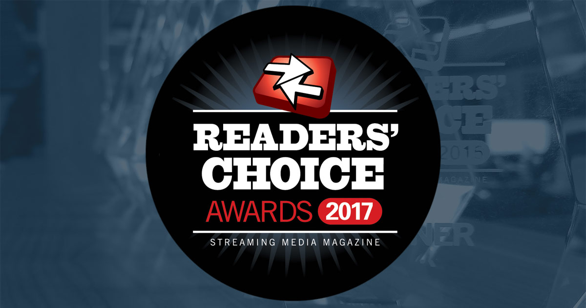 Streaming Media Readers' Choice Awards 2017