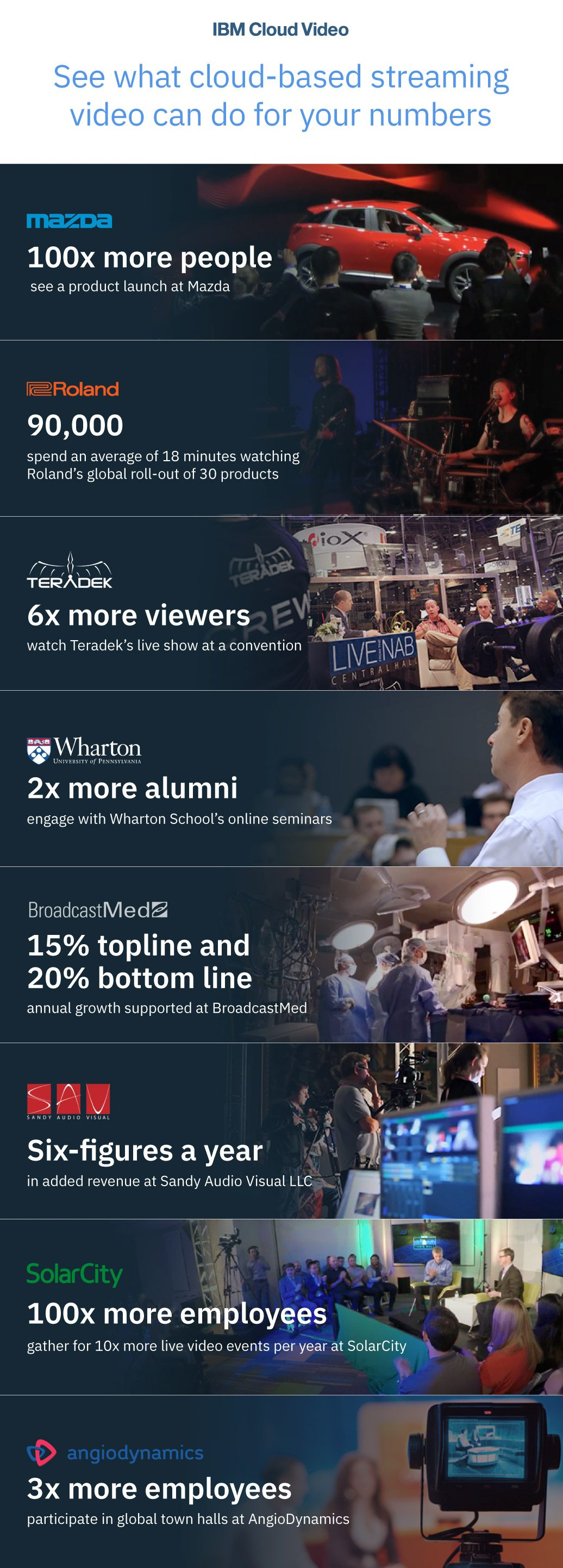 Streaming Video Success Stories Infographic