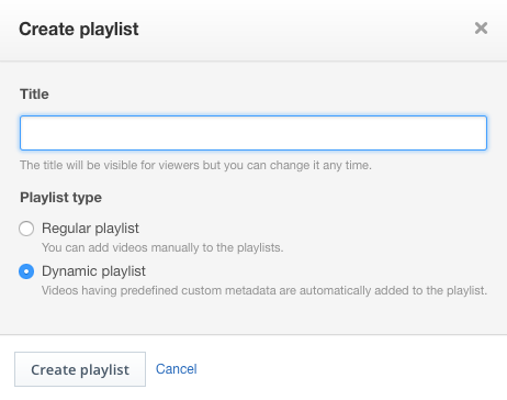 Creating a dynamic video playlist