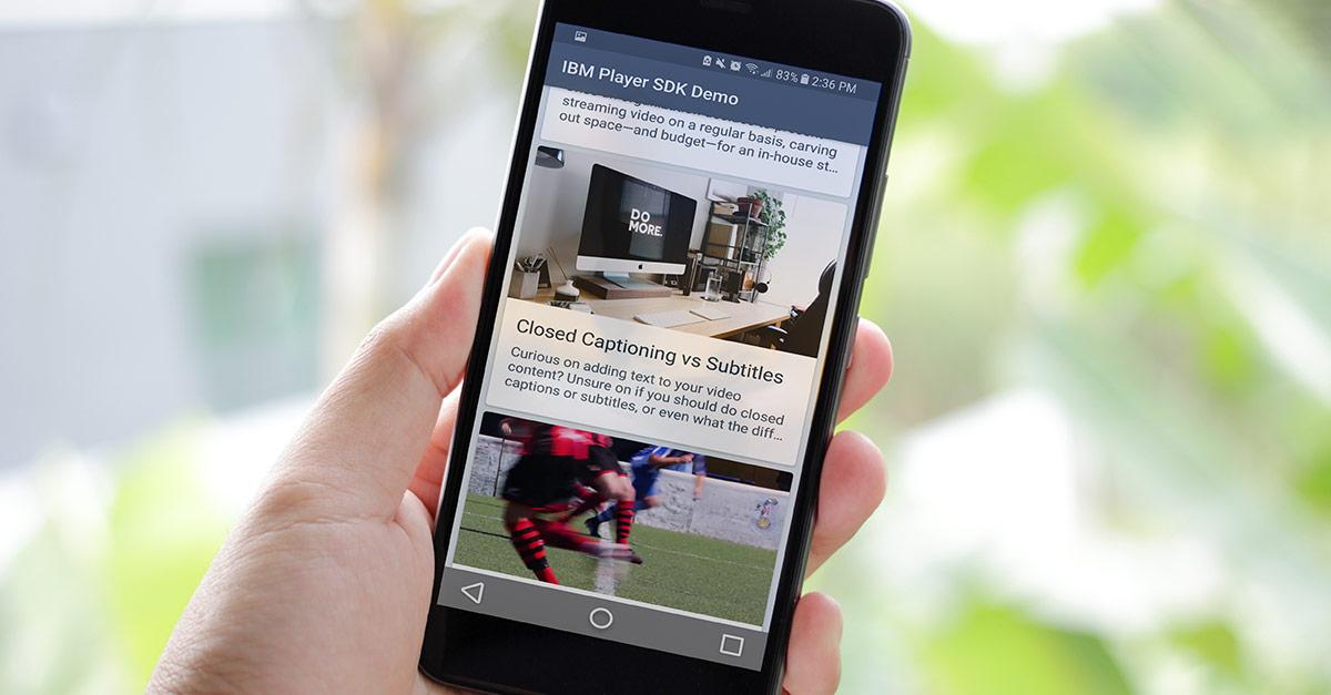 Create Video News Feeds Using Player SDKs