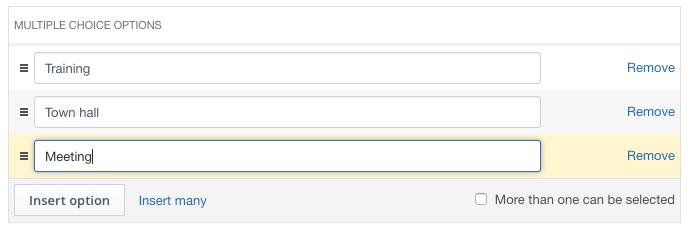 Video Metadata Editor: multiple choice