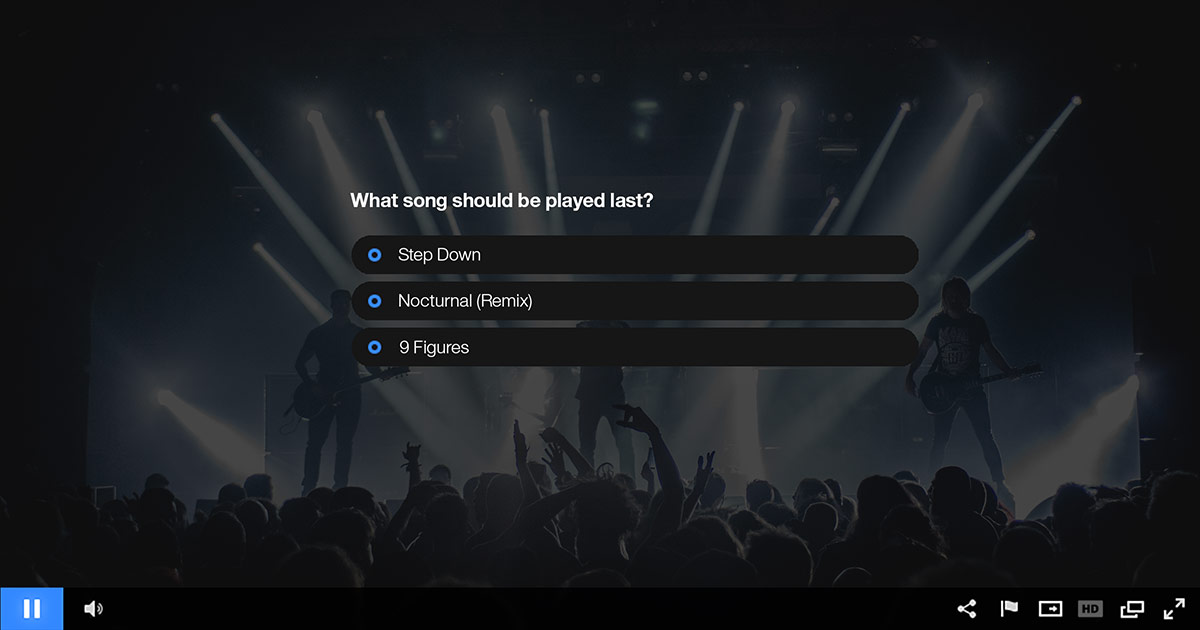 Live Audience Polling for Video