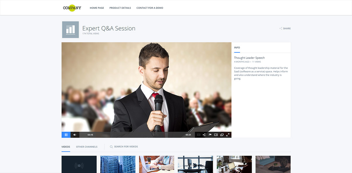 Video Hosting Service for Business: video portal
