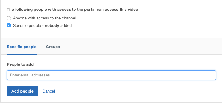 Video Access Control for an Enterprise Video Platform