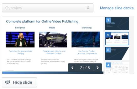 How to Live Stream Presentation Slides: Manage Slides
