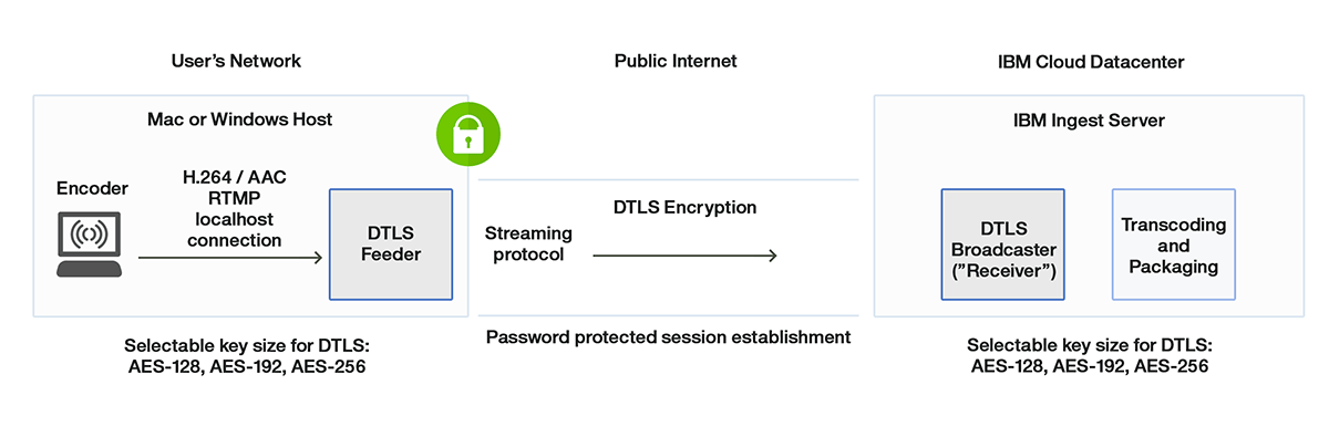 DTLS Streaming Protocol: Encryption in Transit for Live