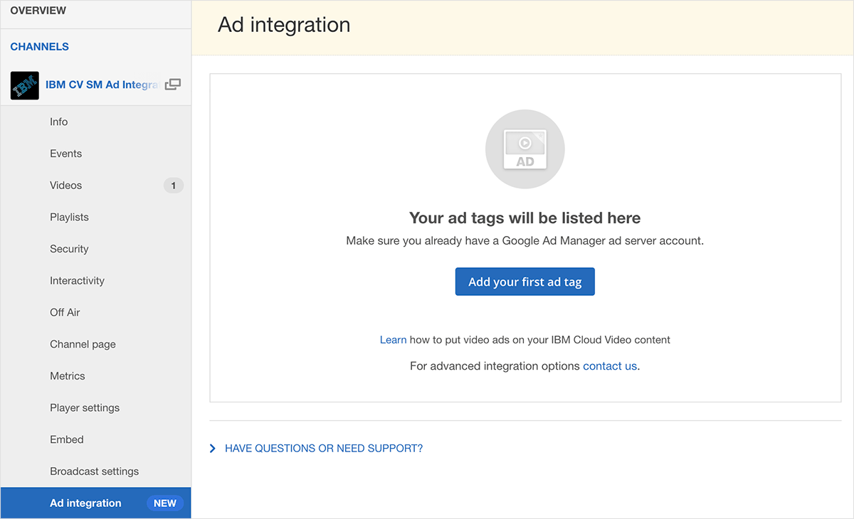 Google Ad Manager Integration for Live and On-Demand Video