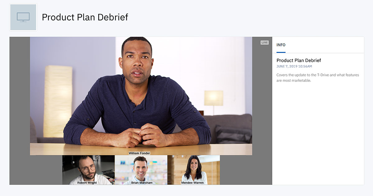 How to Live Stream Cisco Webex Video Conferences | IBM