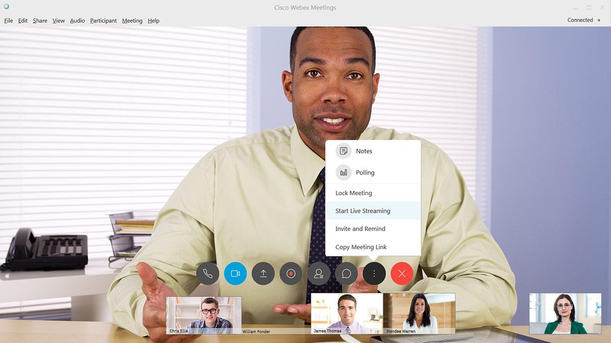 How to Live Stream Cisco Webex™ Video Conferences