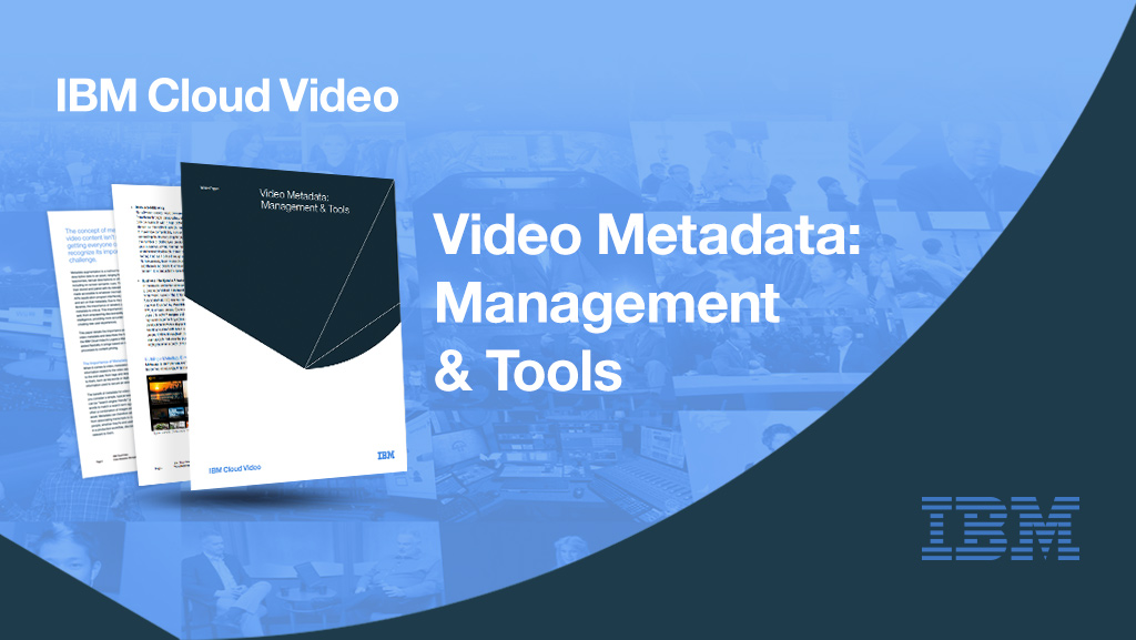 Video Metadata: Management and Tools