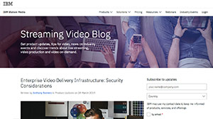 Streaming Video Blog