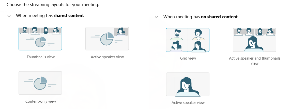 Streaming Layout for Webex Meetings