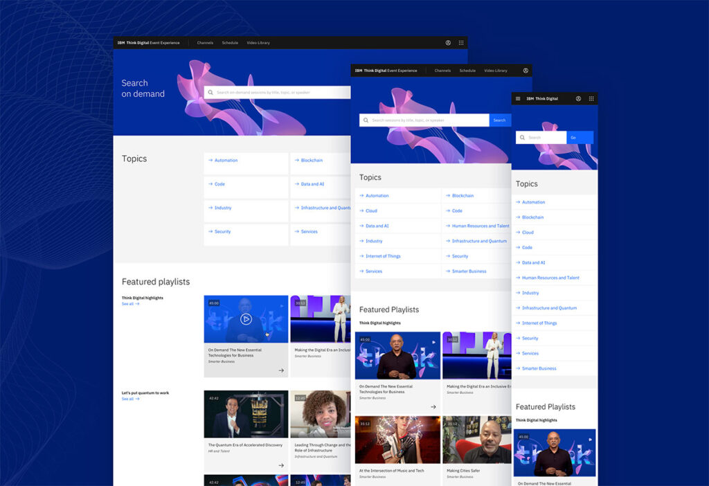 IBM Think 2020 Website