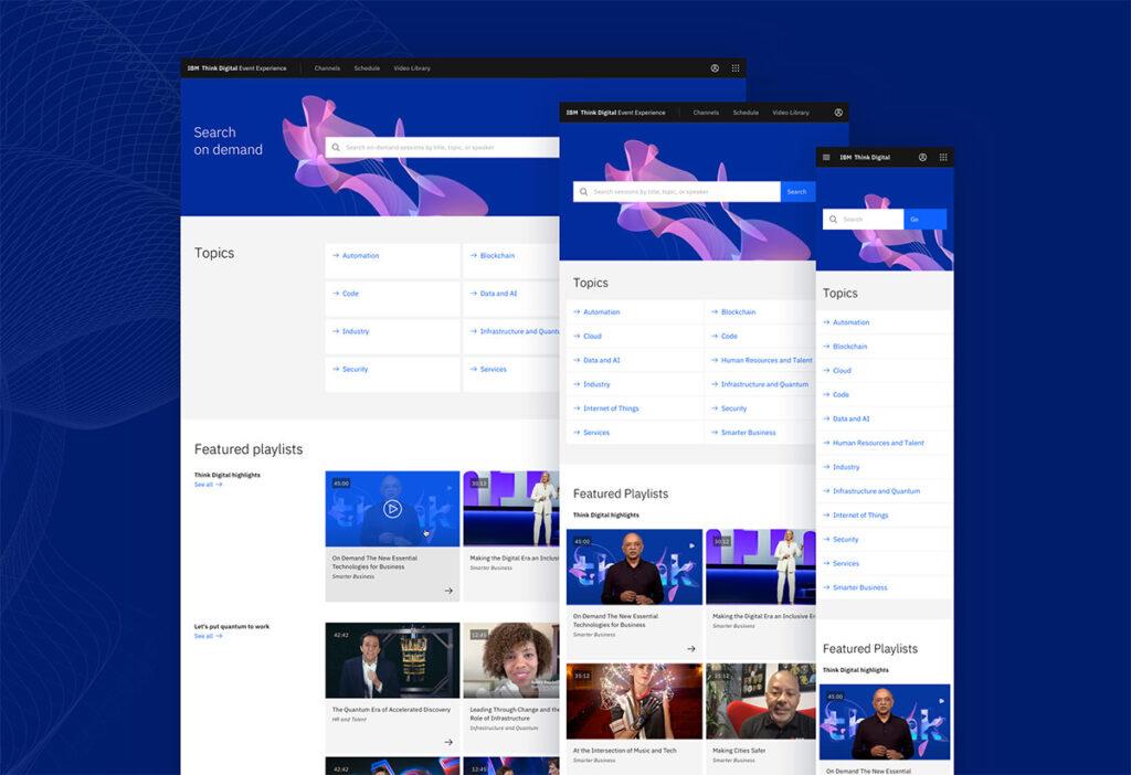 IBM Think 2020 Website
